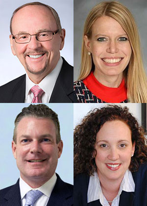 Top: Daniel L. Goodwin and Jennifer Erickson Bottom: Kevin J. Nohelty and Jessica Heybach (Vivirito)