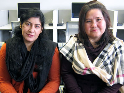 Sadia Qamar and Kaneez Fatima