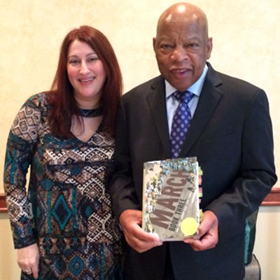 Melanie Koss and Congressman John Lewis