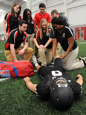 NIU Athletic Training students