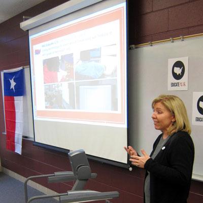Jennifer Johnson, director of teacher preparation and development, talks about Educate U.S.