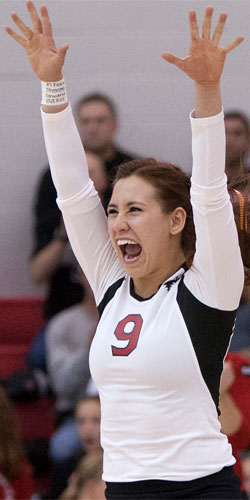 Paige Dacanay was a member of the 2016 NIU women's volleyball team.