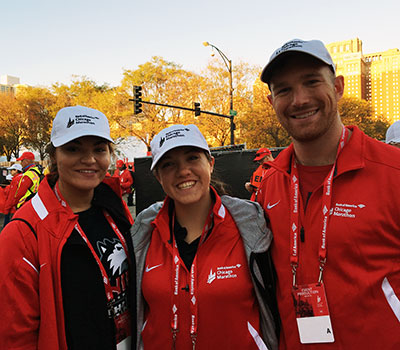 Several members of our Athletic Trainers'  Student Association volunteered their services in October at the Chicago Marathon.