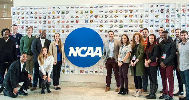 NIU Sport Management students and faculty visit the NCAA headquarters in Indianapolis during an Engage U.S. trip last spring.
