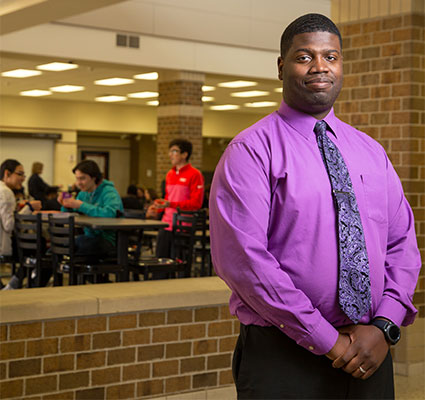 """Maurice McDavid: """"My M.S.Ed. program allowed me to work with faculty with a wealth of experience in educational leadership. It really prepared me to think about leading a school building from all perspectives, and I use my NIU preparation in the way that I think about the choices I make."""""""
