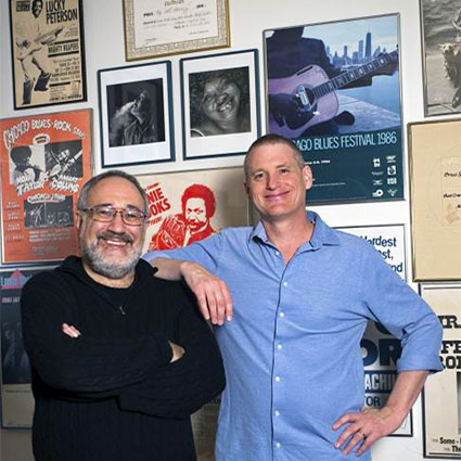 Bruce Iglauer and Patrick Roberts