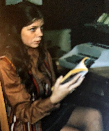 Lynn Gibson studies in the 1970s.