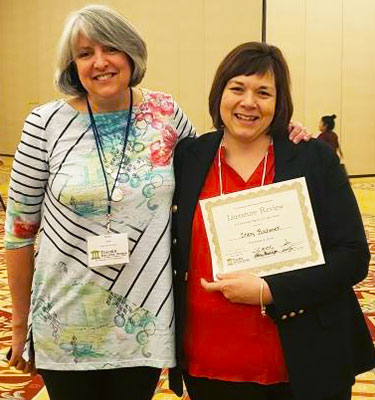 Holly Lane, president of TED-CEC, and Sherry Bochenek