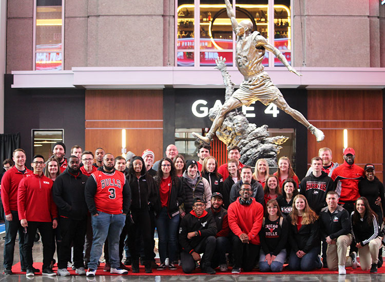 Members of the Exercise Science Club made a March 8 visit to the United Center for a behind-the-scences tour of the training facilities.