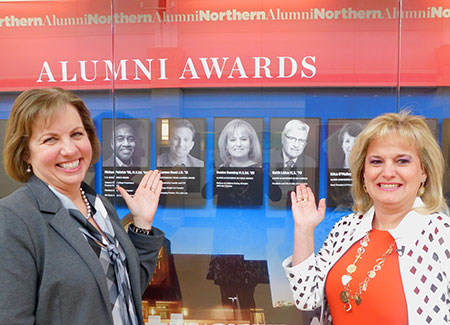 Bunning also received the 2019 Alumni Award for Outstanding Achievement in Public Service from the NIU Alumni Association during her visit.