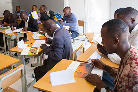 Angolan students learn English.