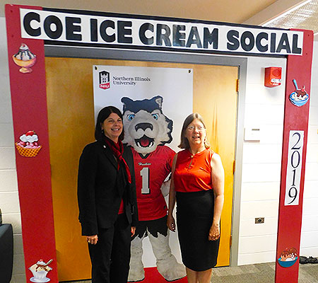 Freeman and Beth Fisher Ingram dropped by the Ice Cream Social after their presentation to during the All-College meeting.