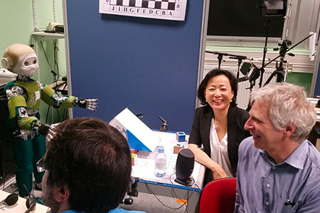 Yanghee Kim and Michael Tscholl at the Grenoble workshop.