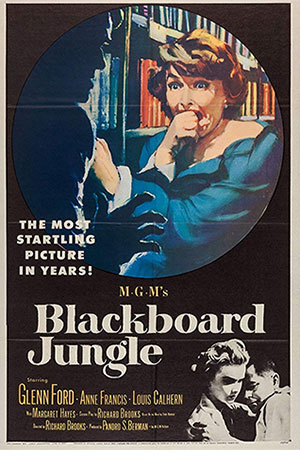 "Movie poster for ""Blackboard Jungle"""