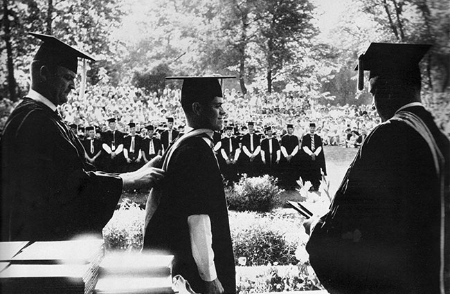 Commencement 1959 at the East Lagoon.