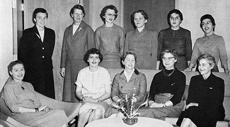 Faculty of the women's Physical Education Department, 1958-59