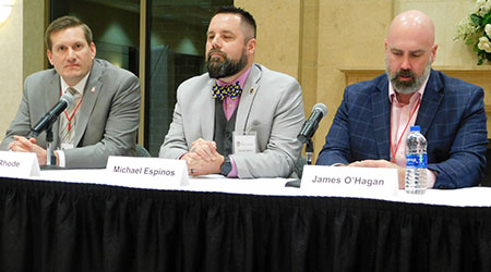 From left: Jason Rhode, Michael Espinos and James O'Hagan.