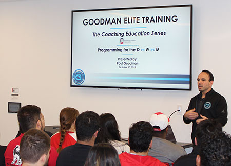 Paul Goodman shares his knowledge with the NIU students.