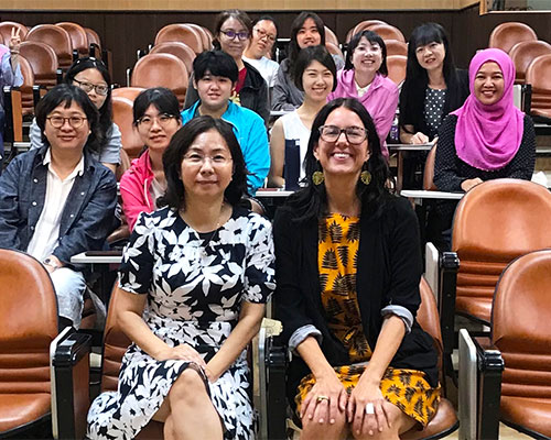 Laura Ruth Johnson at National Sun Yat-sen University in Kaohsiung, Taiwan