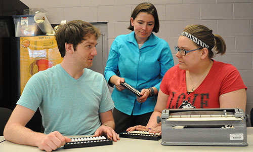 NIU's program is steeped in hands-on experiences with assistive technology.