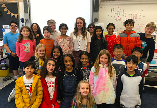 Jessica Dyra and her River Oaks students.