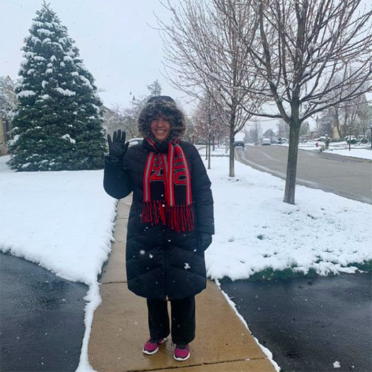 I'm finding it helpful to take a walk to get fresh air and exercise daily – even in the bad weather.  As my husband always tells me, there's no bad weather, just bad clothing choices.