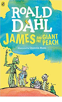 "Book cover of ""James and the Giant Peach"""