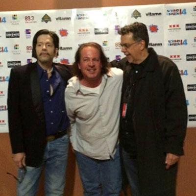 Wickman with Grant Hart, another punk rock legend from Minneapolis band Hüsker Dü, and Gorman Bechard.