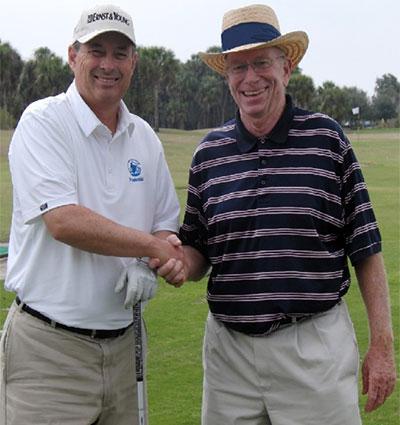 Jim Suttie and PGA golfer Loren Roberts.