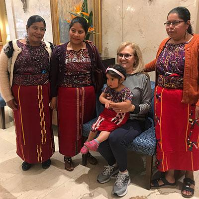 Mayra Daniel (center) and teachers from Guatemala.
