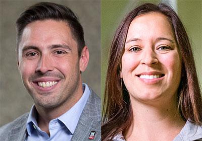 Steve Howell and Jenn Jacobs