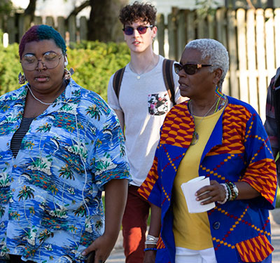 LaVerne Gyant joins the 2019 Unity Walk.