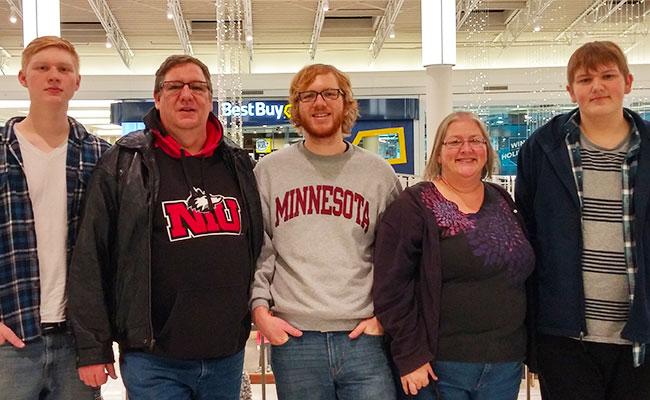 Ted Moen and Carolinda Douglass with sons Ian, Ben and Noah Dougen.