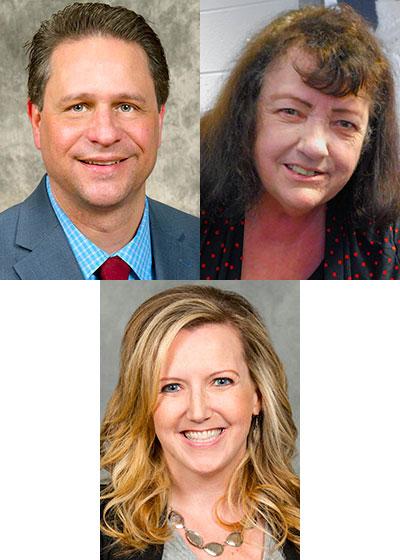 David Walker, Sally Blake and Christy Schweitzer