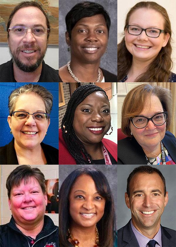 Top: Francisco Borras, Annette Coleman, Emily Feltes. Middle: Kelly Neylon, Amonaquenette Parker, Kathleen Porreca. Bottom: Kathleen Schipper, Monica Spence, Jason Stipp.